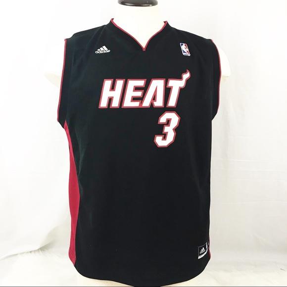 check out f440a 02822 Adidas NBA Heat Wade jersey size XL